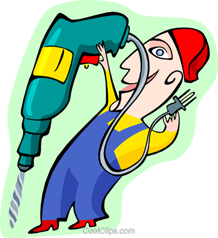 drilling for prospects Royalty Free Vector Clip Art illustration peop3205