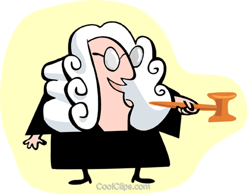 judge standing Royalty Free Vector Clip Art illustration peop3207