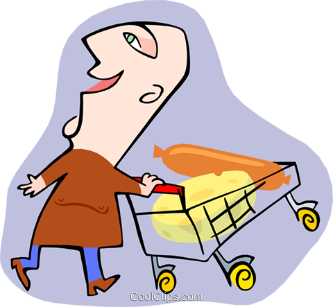 grocery shopper Royalty Free Vector Clip Art illustration peop3209
