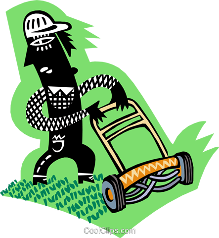 yard worker Royalty Free Vector Clip Art illustration peop3214