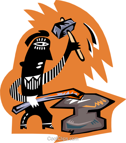 blacksmith Royalty Free Vector Clip Art illustration peop3215