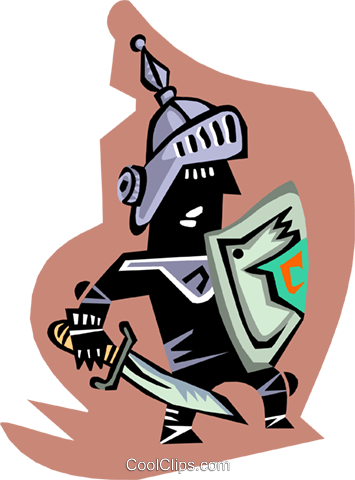 medieval knight Royalty Free Vector Clip Art illustration peop3216