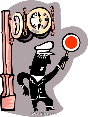 traffic police Royalty Free Vector Clip Art illustration peop3218