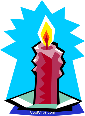 candle Royalty Free Vector Clip Art illustration spec0296