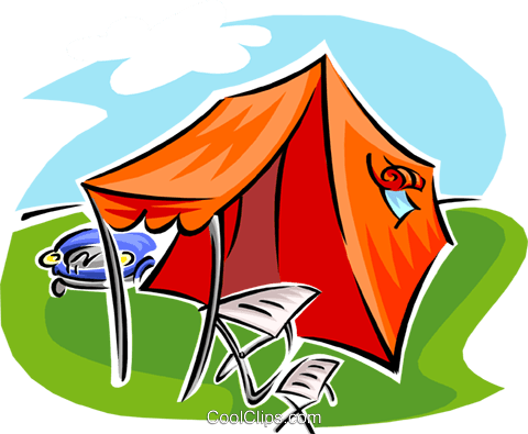 tent with canopy Royalty Free Vector Clip Art illustration spor0378