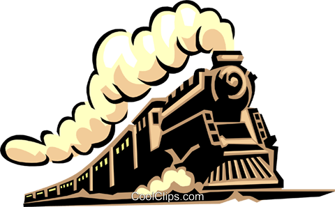 Steam train Royalty Free Vector Clip Art illustration tran0938