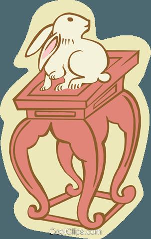兔 免版税矢量剪贴画插图