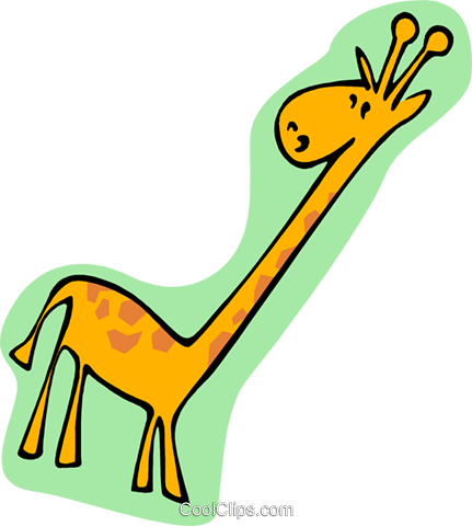 cartoon giraffe Royalty Free Vector Clip Art illustration anim1982