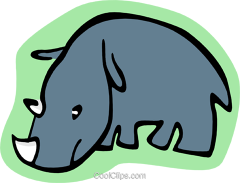 cartoon rhino Royalty Free Vector Clip Art illustration anim1984