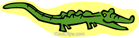 cartoon alligator Royalty Free Vector Clip Art illustration anim1987