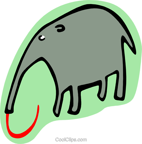 cartoon elephant Royalty Free Vector Clip Art illustration anim1989