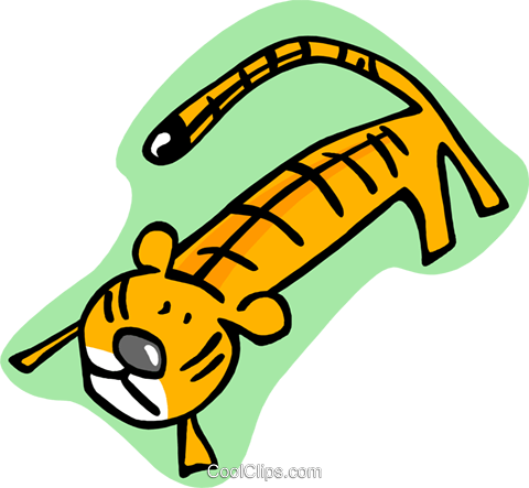cartoon tiger Royalty Free Vector Clip Art illustration anim1990