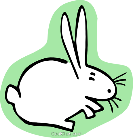 rabbit Royalty Free Vector Clip Art illustration anim1999