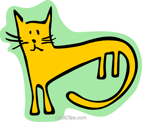 cat Royalty Free Vector Clip Art illustration anim2001