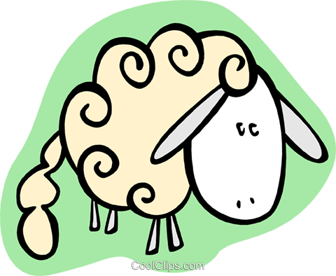 sheep Royalty Free Vector Clip Art illustration anim2002