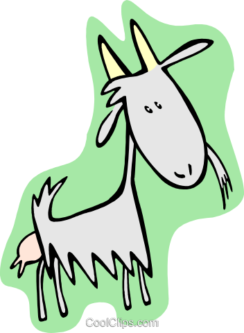 goat Royalty Free Vector Clip Art illustration anim2003