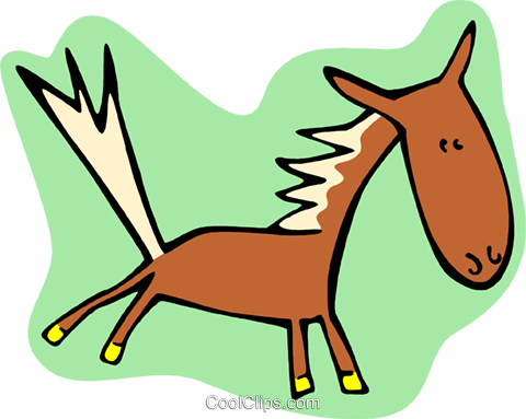 horse Royalty Free Vector Clip Art illustration anim2005