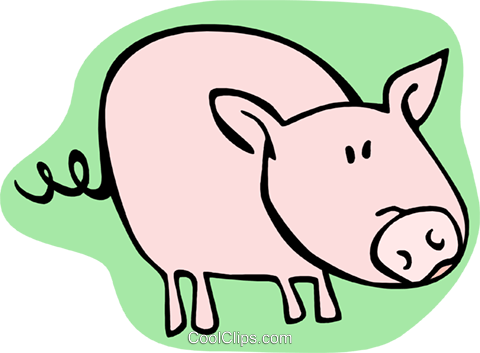 pig Royalty Free Vector Clip Art illustration anim2006