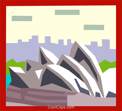 opera house Royalty Free Vector Clip Art illustration arch0480