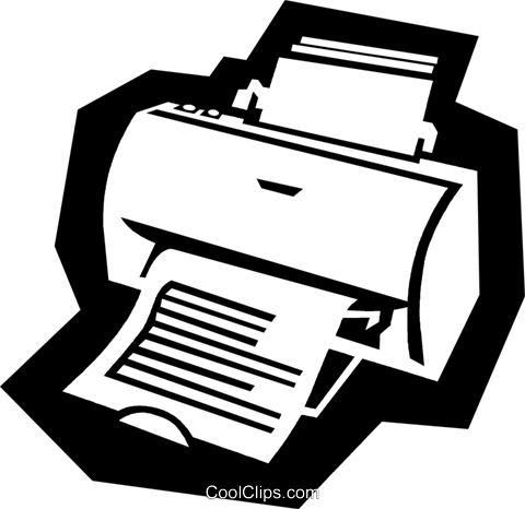 printer Royalty Free Vector Clip Art illustration busi1589