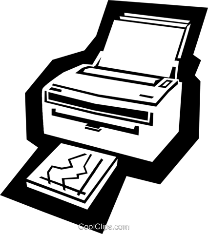 printer Royalty Free Vector Clip Art illustration busi1590