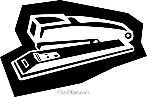 stapler Royalty Free Vector Clip Art illustration busi1591