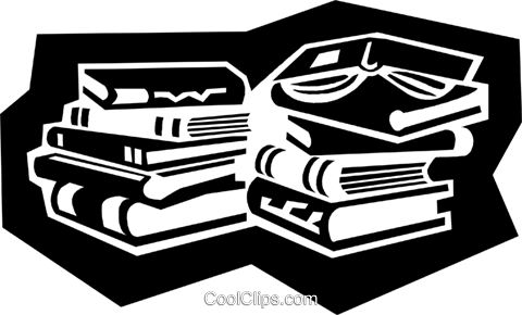 business books Royalty Free Vector Clip Art illustration busi1594
