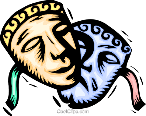 Theatre masks Royalty Free Vector Clip Art illustration ente0117