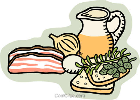 food and dining Royalty Free Vector Clip Art illustration food1072