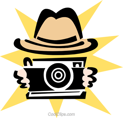 taking a picture Royalty Free Vector Clip Art illustration hous1294