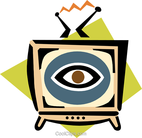 television Royalty Free Vector Clip Art illustration hous1295