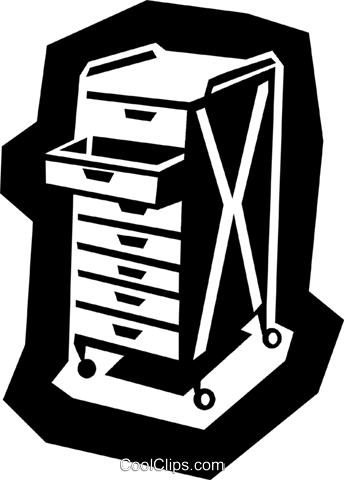 business/tool tray Royalty Free Vector Clip Art illustration indu0925