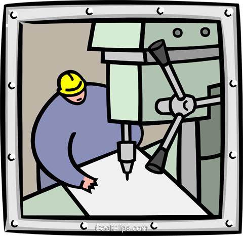 industry/drill press Royalty Free Vector Clip Art illustration indu0936