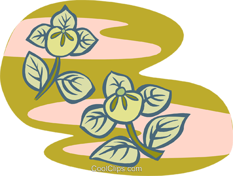 flowers Royalty Free Vector Clip Art illustration natu0879
