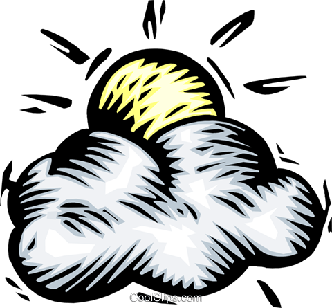 Weather/sun and clouds Royalty Free Vector Clip Art illustration natu0883