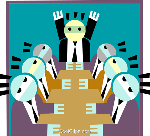 Board meeting Royalty Free Vector Clip Art illustration peop3223