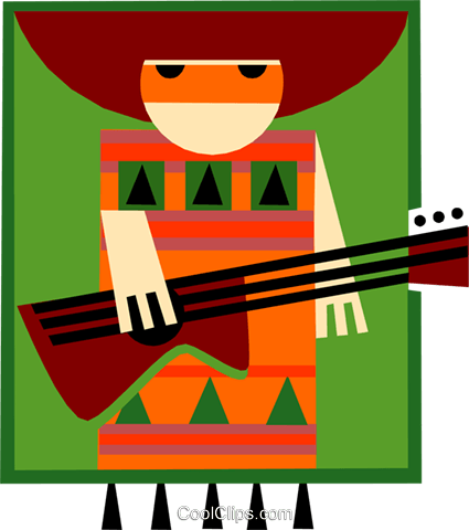 Latin style musician Royalty Free Vector Clip Art illustration peop3226