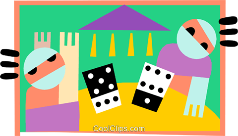 gamblers Royalty Free Vector Clip Art illustration peop3231