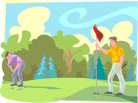 Golfing Royalty Free Vector Clip Art illustration peop3246