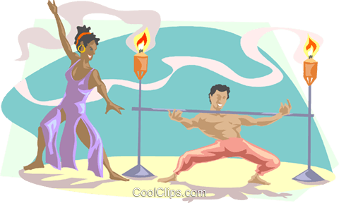 limbo dancers Royalty Free Vector Clip Art illustration peop3248