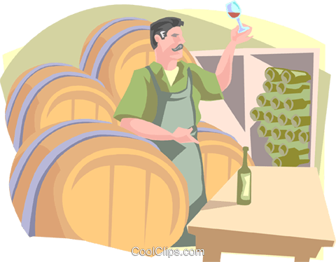 winemaker Royalty Free Vector Clip Art illustration peop3251