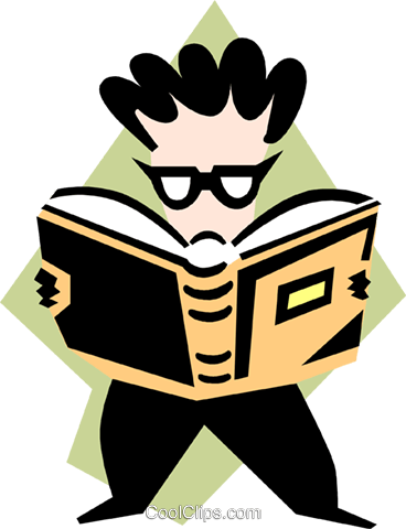 bookworm Royalty Free Vector Clip Art illustration peop3254