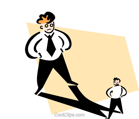 standing in his shadow Royalty Free Vector Clip Art illustration peop3259