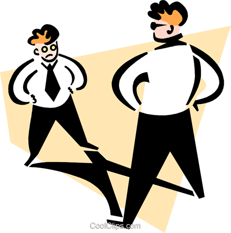 sizing each other up Royalty Free Vector Clip Art illustration peop3260