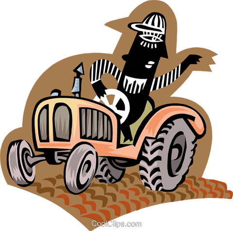 tractor Royalty Free Vector Clip Art illustration peop3265