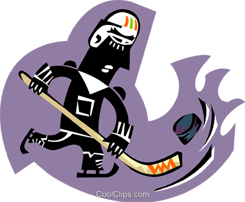hockey player Royalty Free Vector Clip Art illustration peop3267