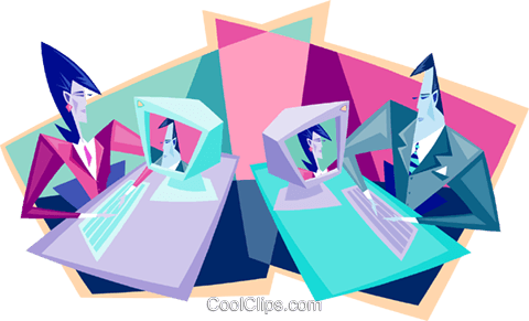 video conference Royalty Free Vector Clip Art illustration peop3273