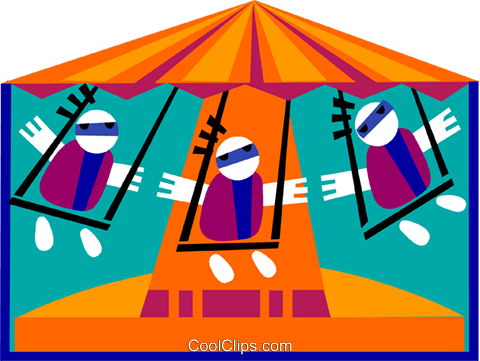 circus swing Royalty Free Vector Clip Art illustration spec0306