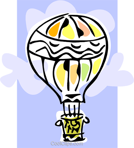 Hot air balloon Royalty Free Vector Clip Art illustration tran0942