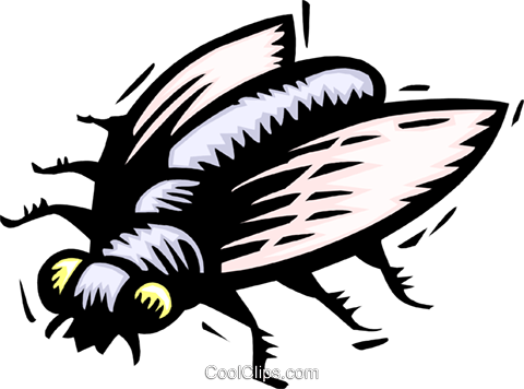 fly Royalty Free Vector Clip Art illustration anim2009
